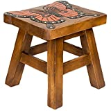 Monarch Butterfly Hand Carved Acacia Hardwood Decorative Short Stool  sc 1 st  Amazon.com & Amazon.com: Wood - Step Stools / Kidsu0027 Furniture: Home u0026 Kitchen islam-shia.org