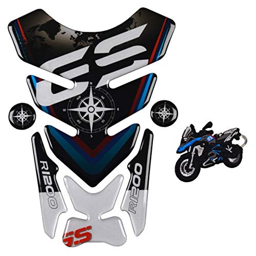 REVSOSTAR Motorcycle Reflective Sticker, Gas Tank Protector, Tank Pad for R1200GS r1200gs GS Adventure ADV GS-Adv, Tankpad with Keychain (R1200gs Parts Bmw)