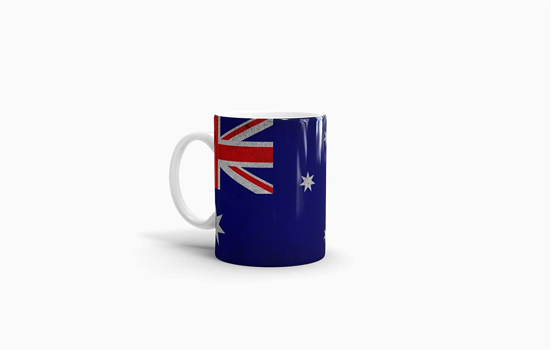 Tassendruck Flaggen-Tasse Australien Retro-Style - Kaffeetasse/Mug ...