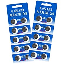 20 HEXBUG-Compatible Batteries - Alkaline Cell - LR44 - AG13