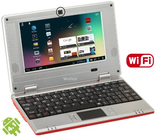 WolVol Worlds Smallest Internet Laptop (Works with WIFI or Ethernet cable) – RED, Best Gadgets
