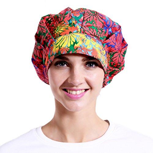 Women's Classic Bouffant Pet Care Surgical Scrub Nurse Bleach Friendly Hat Cap