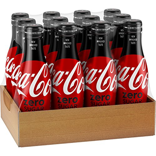 Coca-Cola Zero Sugar Aluminum Bottles, 8.5 fl oz, 12 (New Coke Bottle)