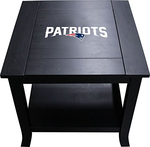 Under Glass Team Logo (Imperial Officially Licensed NFL Furniture: Hardwood Side/End Table, New England Patriots)