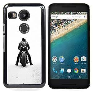 - Bobber Motorcycle - - Cubierta del caso de impacto con el patr??n Art Designs FOR LG Google Nexus 5X Queen Pattern