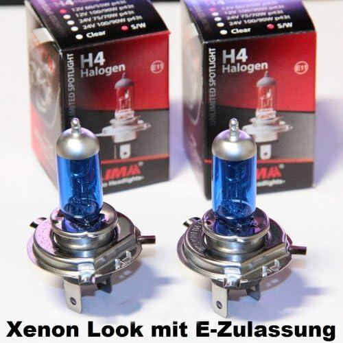 2 X Lima H4 Xenon Look 12v 55 60w Halogen Lampe Super Weiss P43t Auto