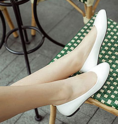 Low Shoes Slip On Aisun White Flats Comfy Top Women's qpgHa