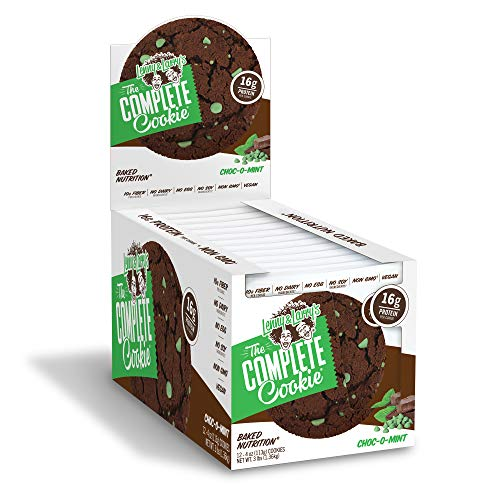 (Lenny & Larry's The Complete Cookie, Choco-O-Mint, 4 Ounce Cookies - 12 Count, Soft Baked, Vegan and Non GMO Protein Cookies)