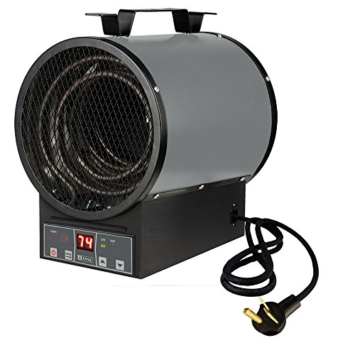 King Electric PGH2448-ETB 4800-watt 240-volt 30-Amp Garage Heater with Electronic Control and ()