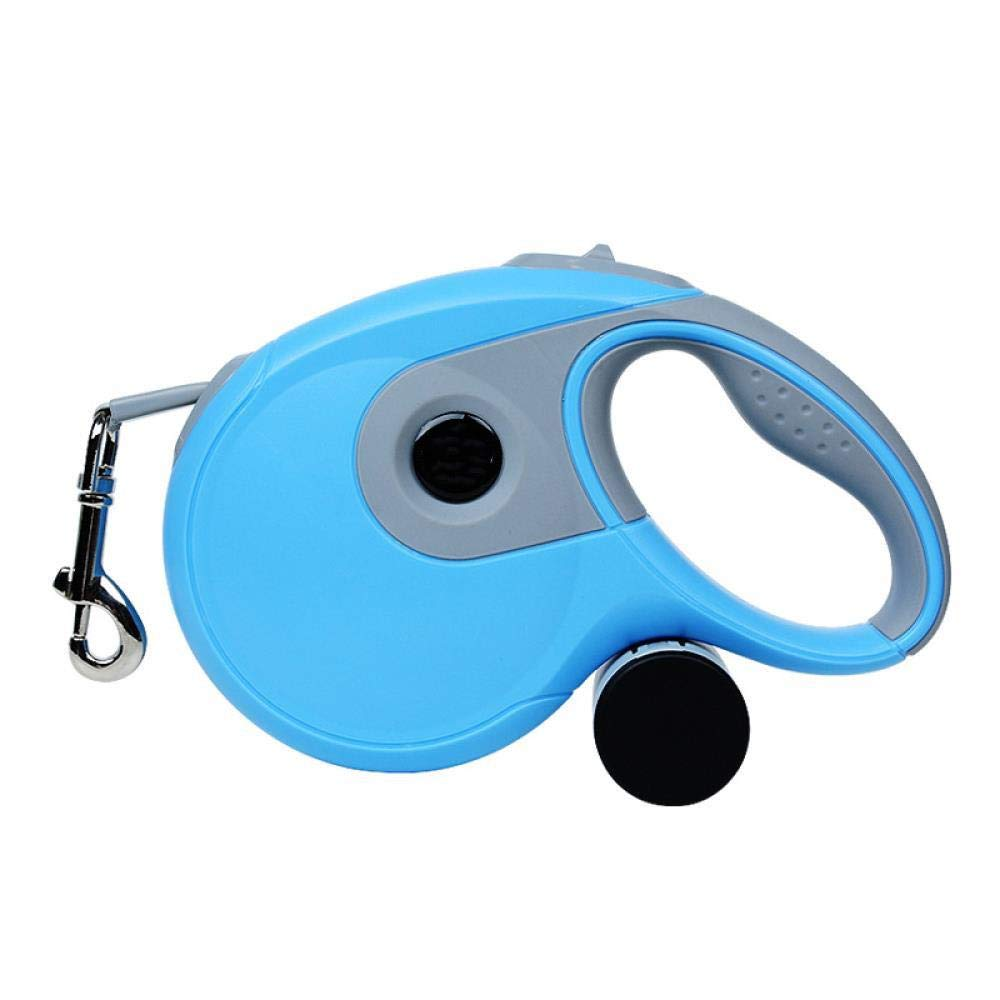 WLTSY Automatic Telescopic Traction Rope Pet Automatic Telescopic Traction Rope 2-in-1 Portable Garbage Bag Anti-Skid, Blue