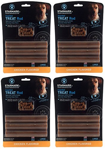 (4 Pack) Star Mark Dog Treat Rod (Large) Review
