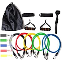 11pcs Resistance Bands Set,Workout Bands,Exercise Bands,fitness elastic band With Handles Set for Home Workouts,Physical Powerlifting Exercise Stretch Bands with Door Anchor and Handles