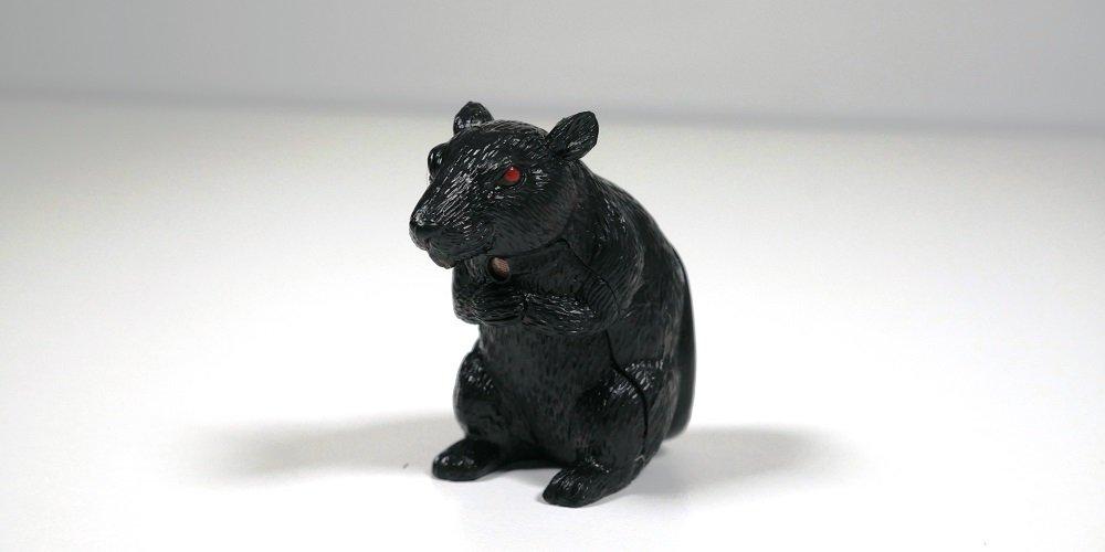 Motion Sensing schwarz Ratte mit roten Augen