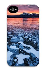 iphone 4 leather cover landscapes nature ice lake 56 3D Case for Apple iPhone 4/4S