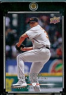 Pont supérieur première édition 2008#143 Daniel Cabrera oiseau Baseball Card à fixer