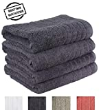 Avira Home Premium Bath Towel Set (Pack of 4, 27'' x 49'') 100% Ring-Spun Cotton Towels for Hotel - Spa, 600 GSM, Soft, Highly Absorbent, Machine Washable