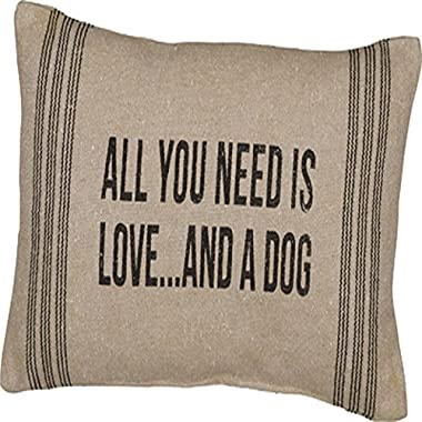 Primitives By Kathy 15  X 10  Accent Throw Pillow - All You Need Is Love and a Dog
