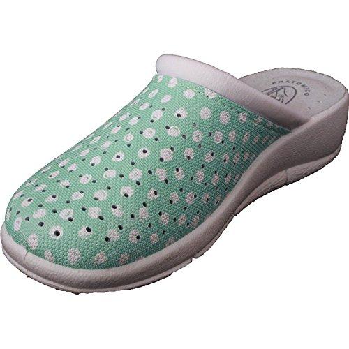Max Relax Womens Nurse Shoes Garden Vet Clogs Kitchen Spot Dot Mules 400P Grey zp2bb