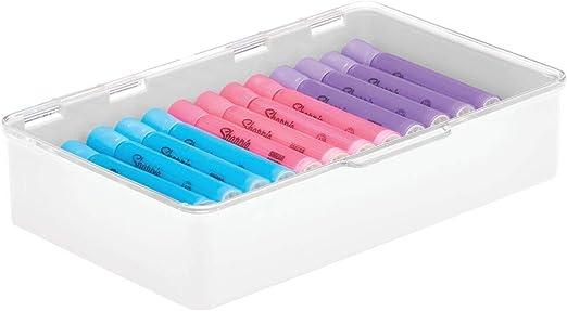 mDesign Caja con tapa para la cocina, la despensa o el despacho ...