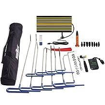 Mookis PDR Rod Dent Repair Tool, 32PCS PDR body tool, Car Ding Dent Repair Rod Hook, Wedge Paintless Hail Removal Tool