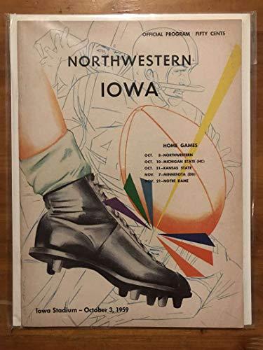 Northwestern Iowa COLLEGE FOOTBALL PROGRAM - 1959 - EX ()