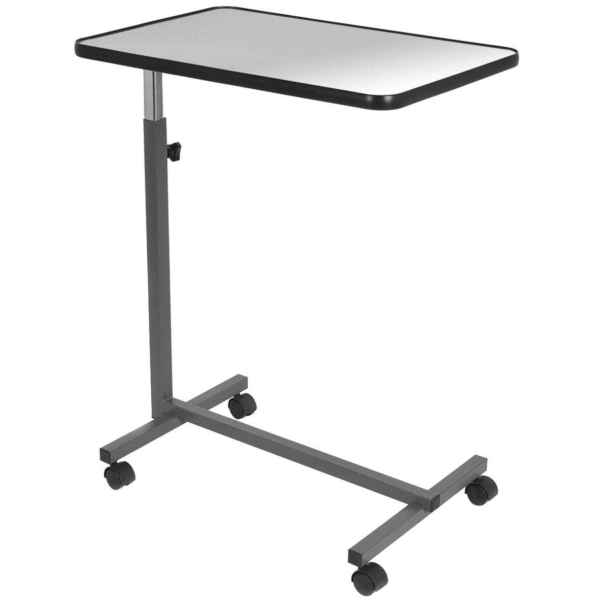 Over Bed Food Tray Small Rolling Computer Table by AchieveUSA