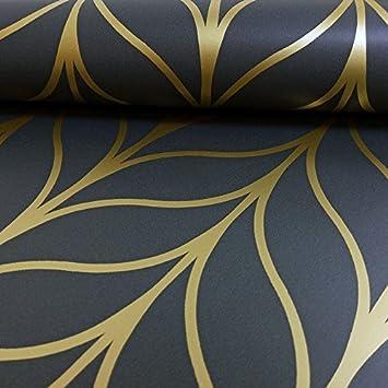 HOLDEN schimmernde GEO gestreifte Tapete Art Deco Spalier ...