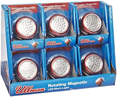 Ullman Aluminum Rotating Magnetic 48 LED Work Light with 3 AA Batteries