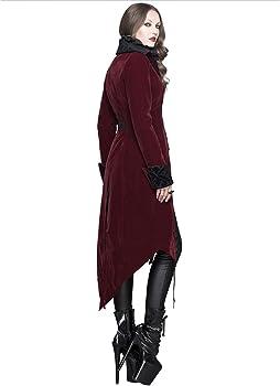 Devil Fashion Womens Jacket Coat Red Velvet Gothic Steampunk Aristocrat Regency
