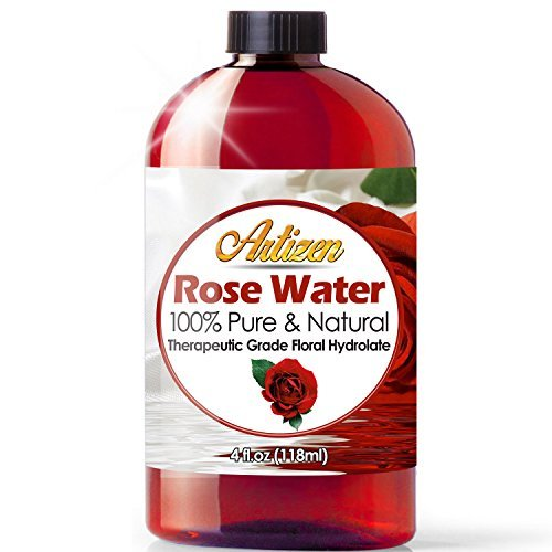100% Pure Rose Water (HUGE 4 OUNCE BOTTLE) Natural Moroccan Rosewater - Beautiful Fresh Fragrance - Perfect Facial & Skin Toner & Moisturizer