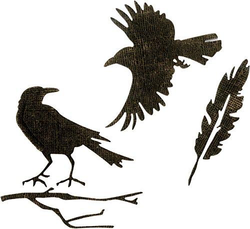 Sizzix THoltz Thinlits Die Feather & Ravens ()