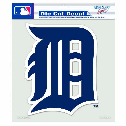 Decal Mlb Tigers Detroit (MLB Detroit Tigers 8-by-8 Inch Diecut Colored Decal)