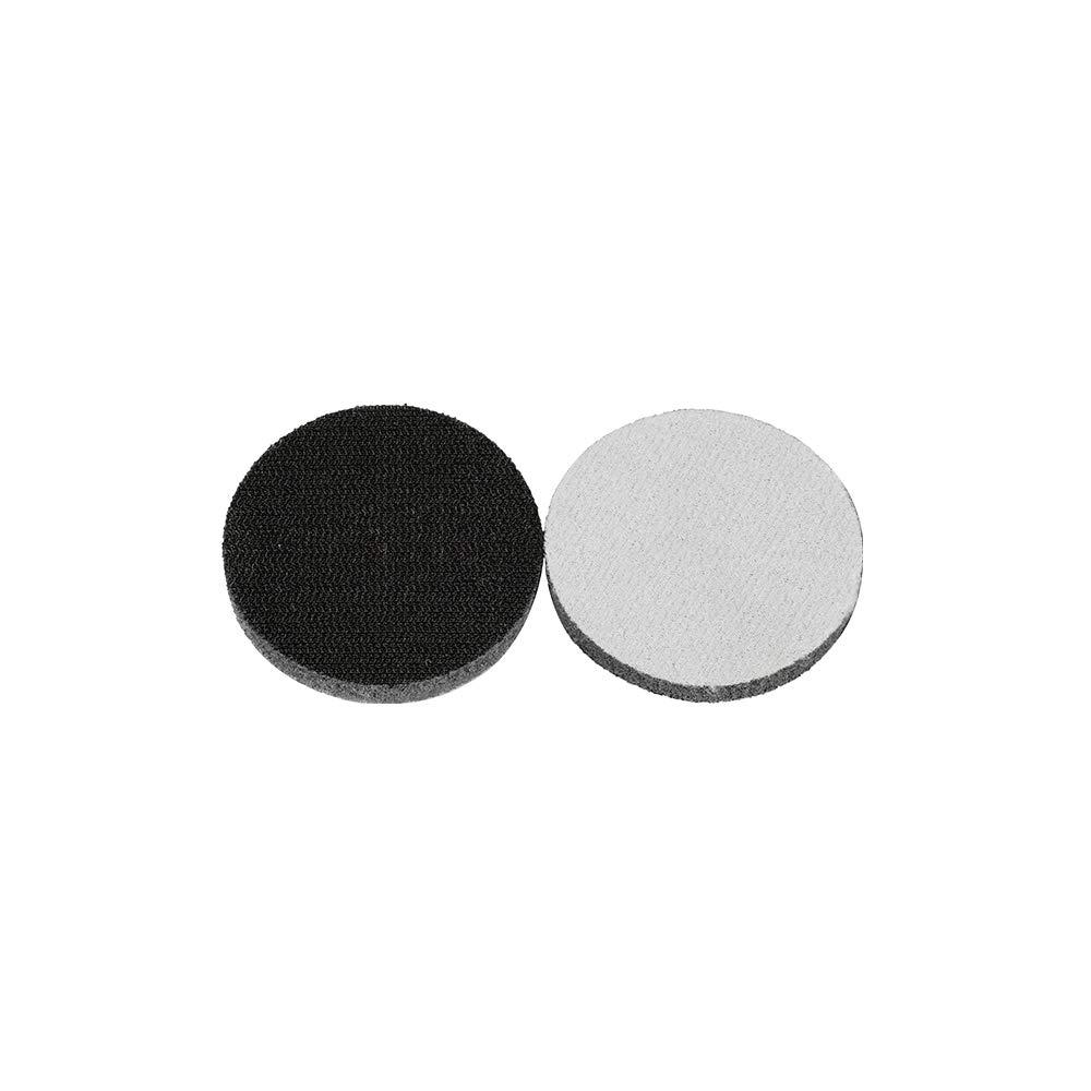 Uerglass 3 Inch Hook and Loop Soft Foam Buffering Pad for Sanding Disc 10pcs