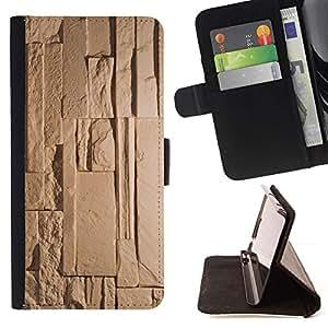 For Samsung Galaxy S6 Active G890A Case , Antique Beige - la tarjeta de Crédito Slots PU Funda de cuero Monedero caso cubierta de piel