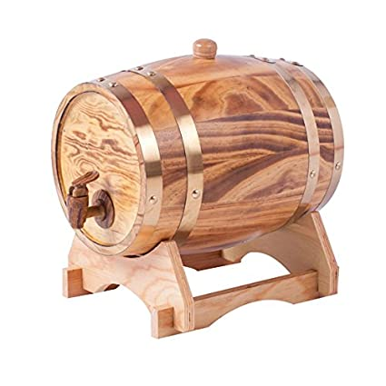 Oak barrels 15L Wooden Barrel for storage or aging wine & spirits Vintage Style Tabletop Wine