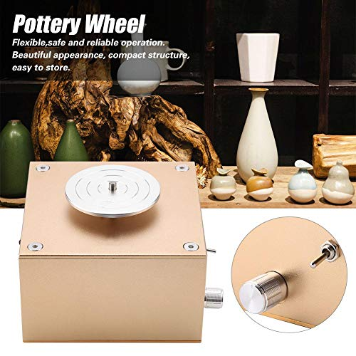 Mini Electric Pottery Wheel Machine Clay Making Ceramic Machine Art DIY Craft 110-240V(US Plug) by Wal front (Image #1)