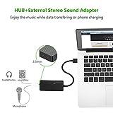 UGREEN USB 3.0 Hub 3 Ports USB Sound Card 2 in 1