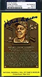 HANK AARON PSA DNA Coa Autograph Gold HOF Plaque Hand Signed Authentic