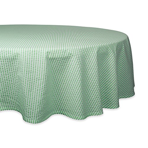 DII Cotton Seersucker Striped Tablecloth for Weddings, Picnics, Summer Parties and Everyday Use, 70