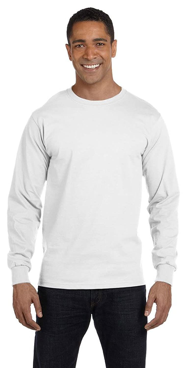 Gildan DryBlend 5.6 oz., 50/50 Long-Sleeve T-Shirt, WHITE