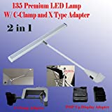 DSM TM 2 in 1 LED (78/ 135) Tube Style Diplsay Light White (6000k) for Trade Show Pop up Tension Booth Podium and Display Panel w/ C-type Adapter Super Bright Tension Las Vegas Approved, Ul Approved (135 LED (18''))