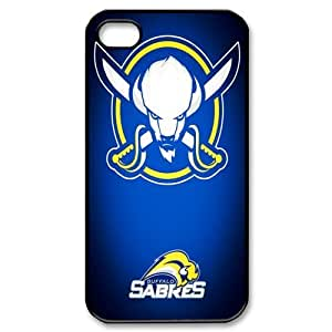 NHL M-5 Sports Buffalo Sabres black Print Hard Shell Case for iPhone 4/iPhone 4S