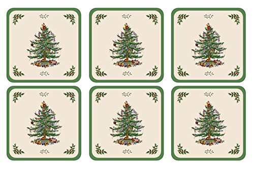Spode Christmas Tree Hardback Coasters,  - Christmas Coasters Shopping Results