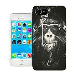 Unique Phone Case Animal painting patterns Smoking monkey Hard Cover for samsung galaxy s5 cases-buythecase