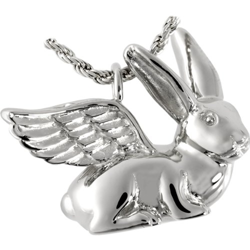 Memorial Gallery 3103s Rabbit Ears Up Sterling Silver Cremation Pet Jewelry