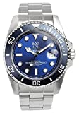 HYAKUICHI 101 Men's Automatic 20BAR Diver's Analog Date Deep-blue Watch