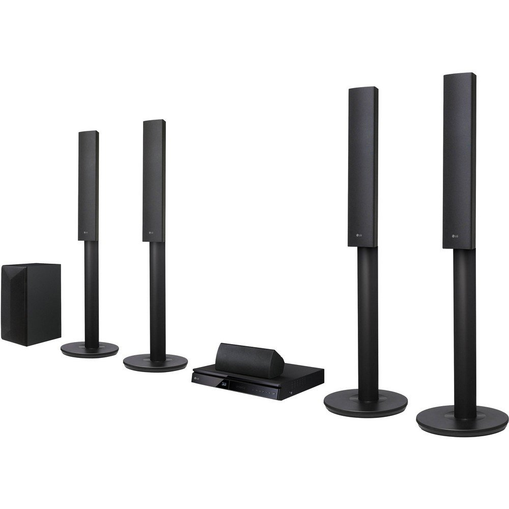 LG LHB655 Smart Bluetooth Multi Region Free 5.1-Channel Blu Ray DVD Home Theater Speaker System w/ Free HDMI Cable, 110-240V
