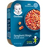 Gerber Spaghetti Rings in Meat Sauce, 6 Ounce