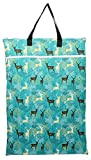 Large Hanging Wet/Dry Cloth Diaper Pail Bag for Reusable Diapers or Laundry (Blue Deer)
