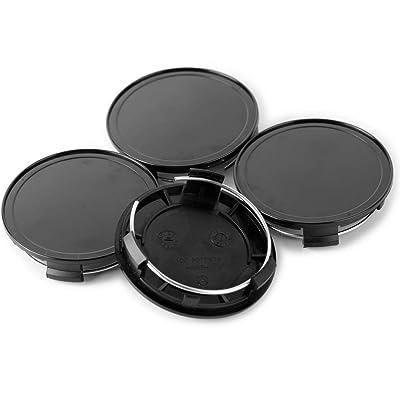 Rhinotuning 4pcs 75mm(2.9i5n)/69mm(2.72in) Wheel Center Caps Black Base for M608#610C 6010K74#2204000125 S300 W230-C230 C B Wheel Rims: Automotive